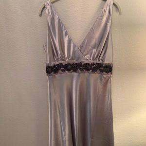 Silver A Line Dress